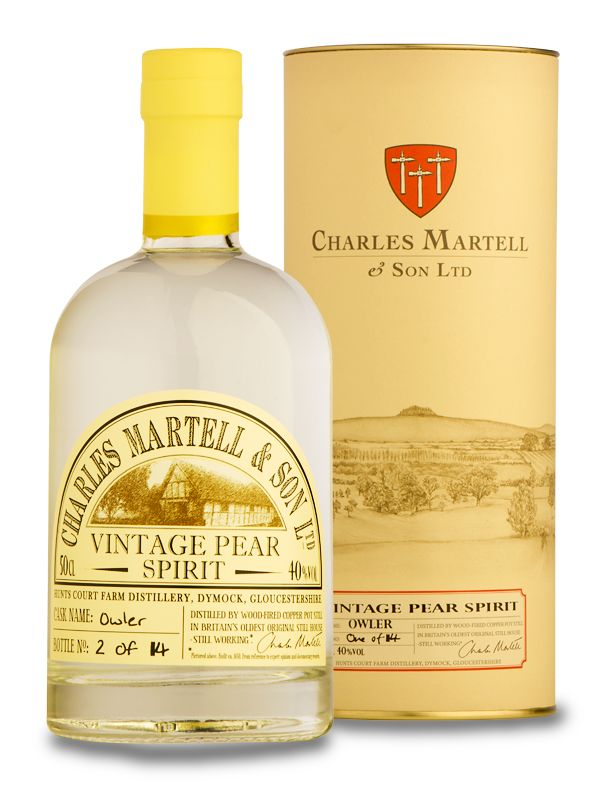 Charles Martell's Vintage Pear Spirit, from the makers of Stinking Bishop cheese @ChasMartellSon