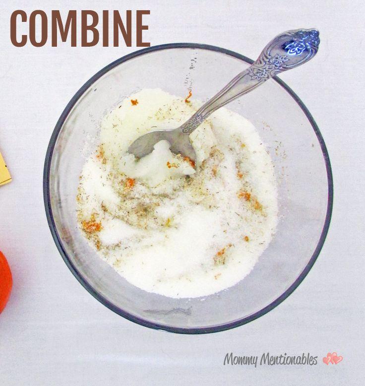 Сделай сам Домашний Ромашка и оранжевый Сахарный скраб