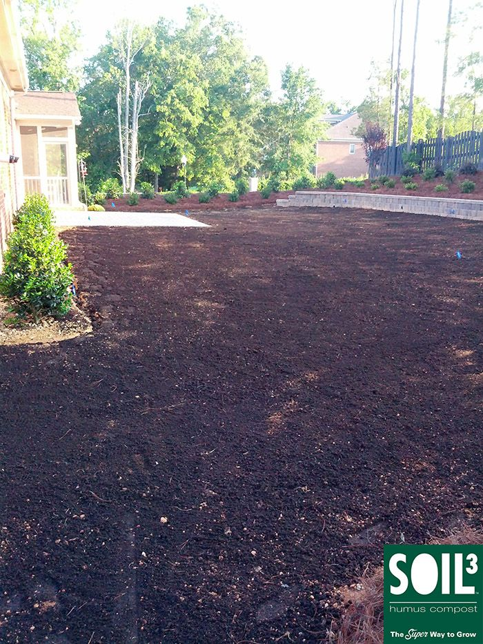 8 bigyellowbags of soil3 organic compost were used to for Care for new sod