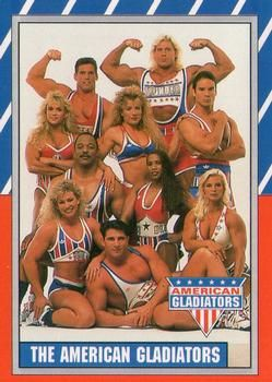 K--1991 Topps American Gladiators #1 The American Gladiators Front