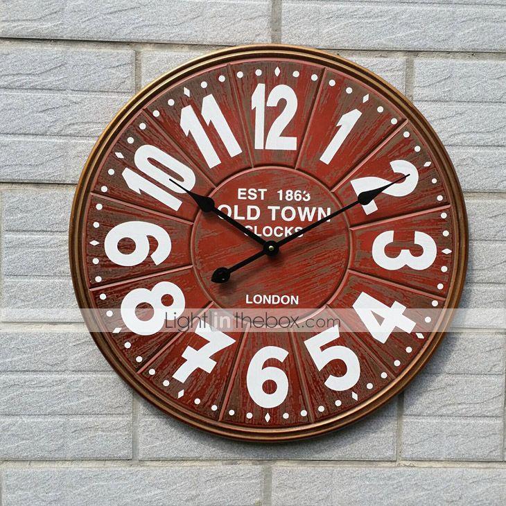 vintag de estilo europeo de madera del reloj de pared de silencio 4999480 2016 – $68.127