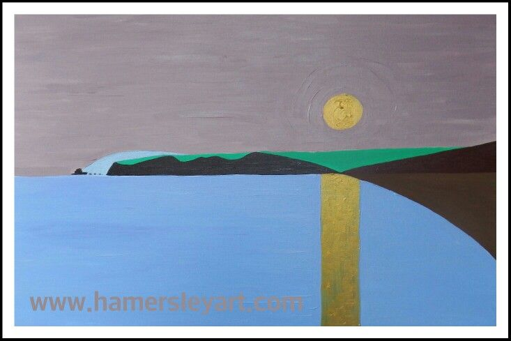 #Abstract #Sunset in #Bonmahon #CopperCoast #Ireland #Art