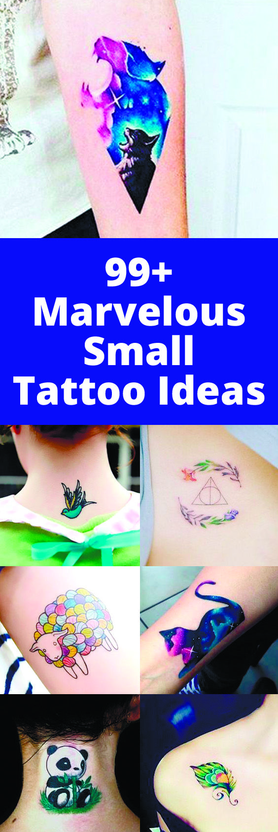 With small tattoos, you don't have to stick with j…