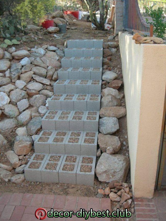 Bauen Sie Selbst Eine Gartentreppe Und Machen Sie Sich Leichter Durch Den Garten Bauen Durch Garten Gartent In 2020 Garden Stairs Garden Steps Walkway Landscaping