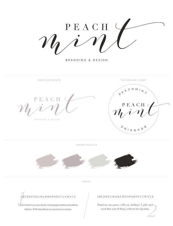 Logo Design Branding Package Inc. Photography Watermark - Romantic Script Style