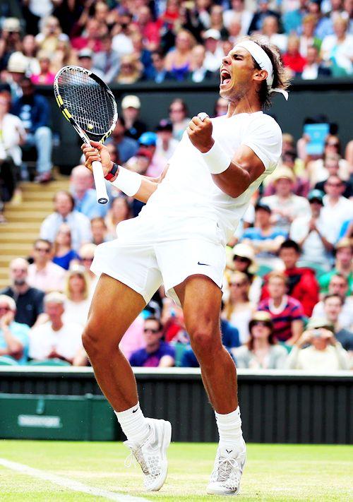 2014 Wimbledon Championships Second Round; Rafael Nadal def. Lukas Rosol 4-6, 7-6(6), 6-4, 6-4