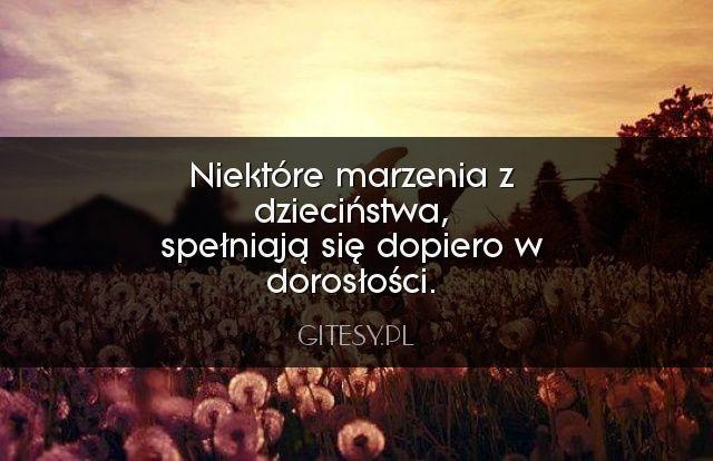 Niektóre marzenia z dzieciństwa...  Zobacz więcej na: http://gitesy.pl