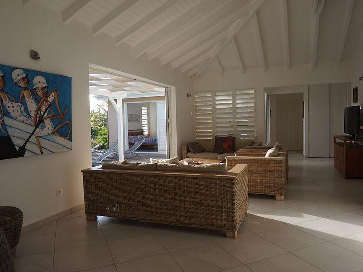 Location vacances villa Le Moule: Salon intérieur