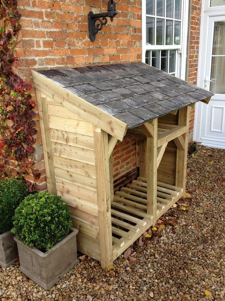 Made from 75mm x 75mm chunky, treated timber and treated feather board. It features, feather board sides, gallows brackets, kindling shelf and reclaimed slate roof. | eBay!