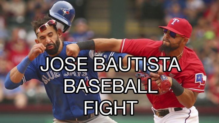 Baseball Fight Jose Bautista Punched by Rougned Odor #Baseball #Bautista #BlueJays #Toronto #Rangers