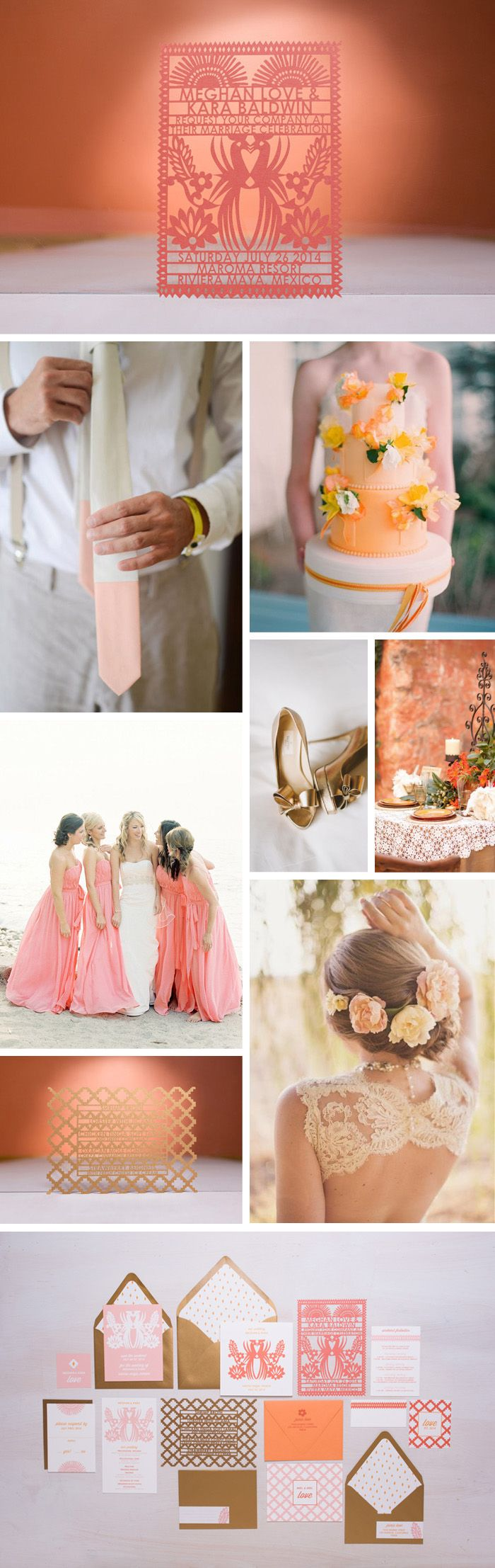 Mayan wedding inspiration featuring Laser Cut invitations by Avie Designs: www.aviedesigns.com