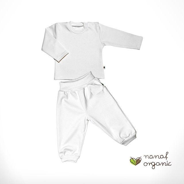 Pomagająca zasnąć piżamka z długim / krótkim rękawem / Nanaf Organic blubalon.pl
