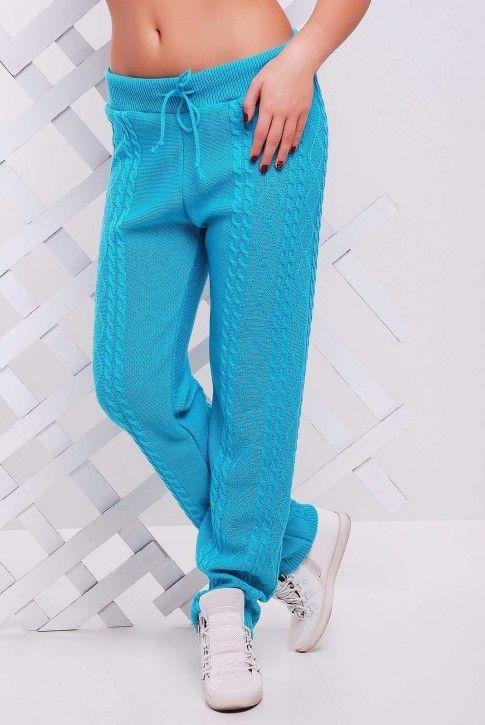 Вязаные штаны мятного цвета - SHV0002