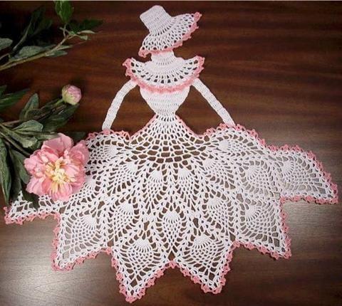 lace pineapple crinoline lady