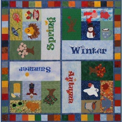 Four Seasons In One Quilt Quilt Pinterest Patchwork