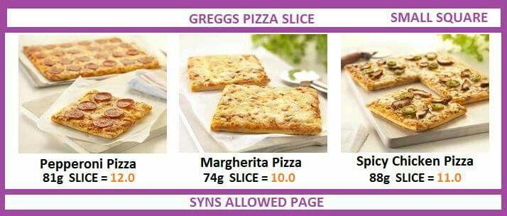 Greggs Pizza Slice | Slimming World | Pinterest | Pizza