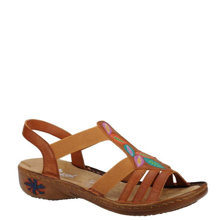 Sandale casual dama Rieker coniac