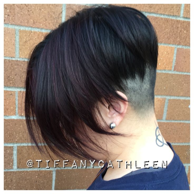 Badass undercut chick fade with red violet highlights!