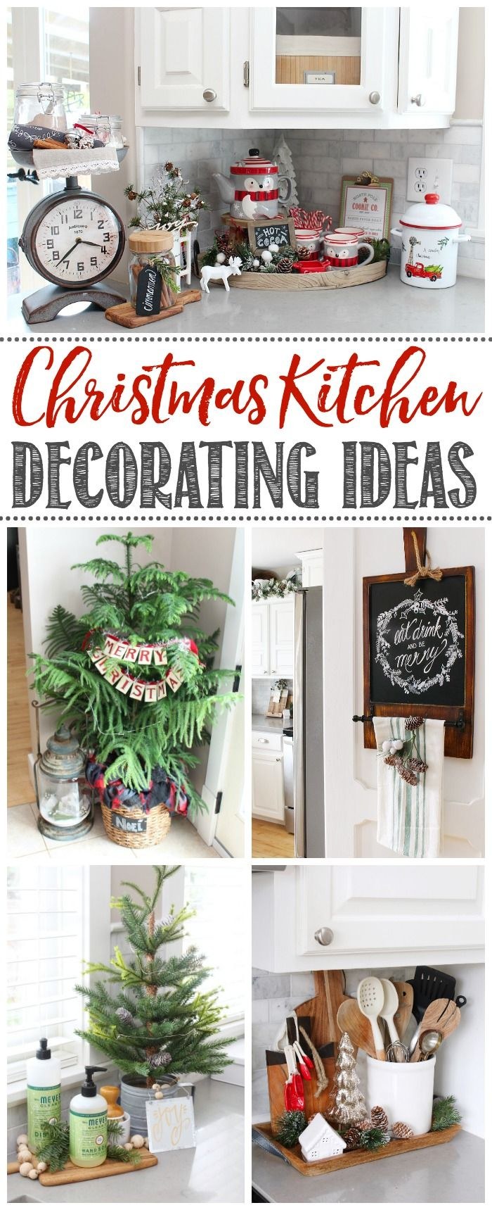 Beautiful Christmas Kitchen Decorating Ideas.  Cute and simple ideas to help you decorate your own home.
