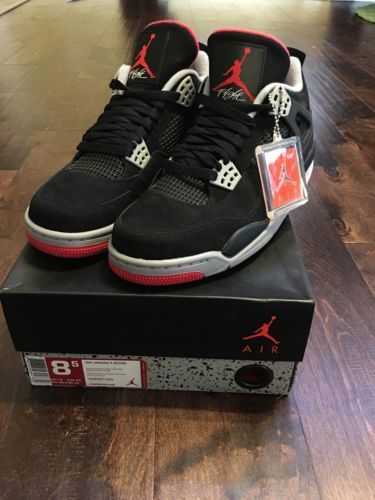 Nike Suede Air Jordan 4 Athletic Sneakers for Men