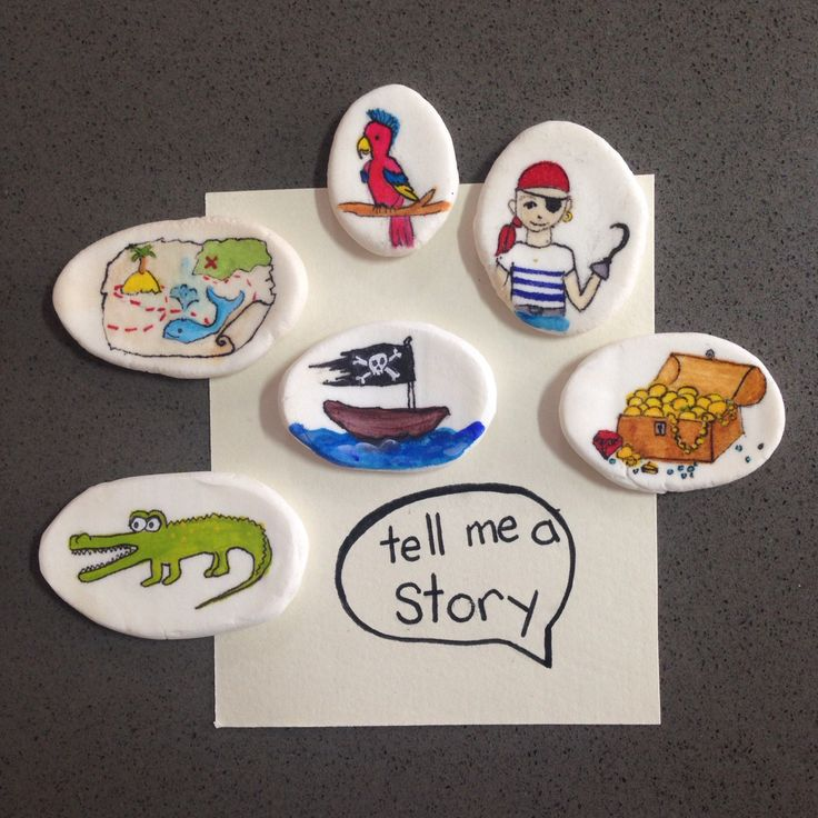 Pirate story stones #popupartparty