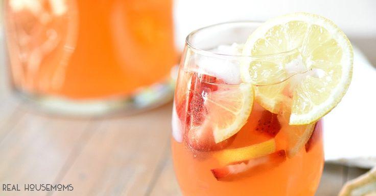 Strawberry Lemonade Sangria @FoodBlogs