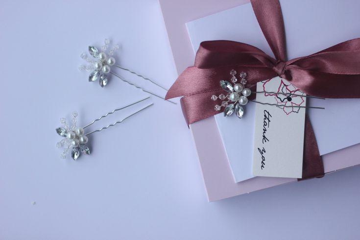 Nina | Wedding hair pins, wedding hair piece, wedding hair accessories, bridal hair comb, peigne cheveux mariage, bridal headpiece, tiara