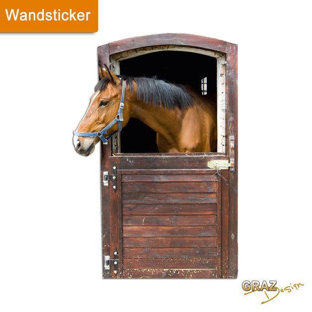 Epic Wandtattoo Wandsticker Wandtattoo Pferd Stall Box T r ein Designerst ck von GrazDesign bei DaWanda