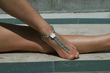 Google Image Result for http://www.home-jewelry-business-success-tips.com/images/jan-hansen-barefoot-sandals-375x250.jpg | See more about Barefoot, Sandals and Sexy Sandals.