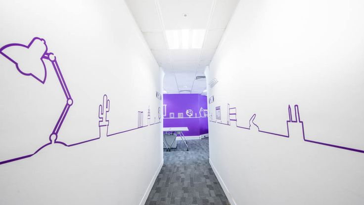 www.vinylimpression.co.uk Office/ workplace graphics for Trax retail. Office branding fit out design project