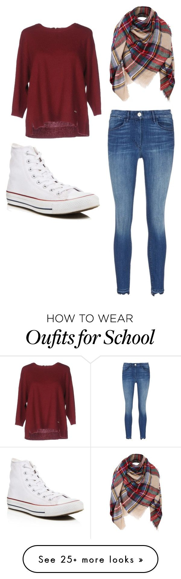 """""""School"""" by mrsbieber123-396 on Polyvore featuring Henry Cotton's and Converse"""