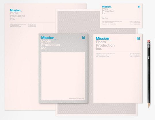Berg / Mission Photo Production — #Letterhead #Businesscard #Notepad