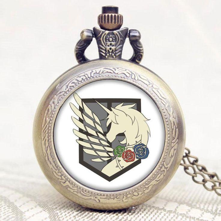Attack on Titan Three Corps Flag Quartz Pocket Watch  #anime #animeboy #animeart #comic #animelover #merchandise #stuff