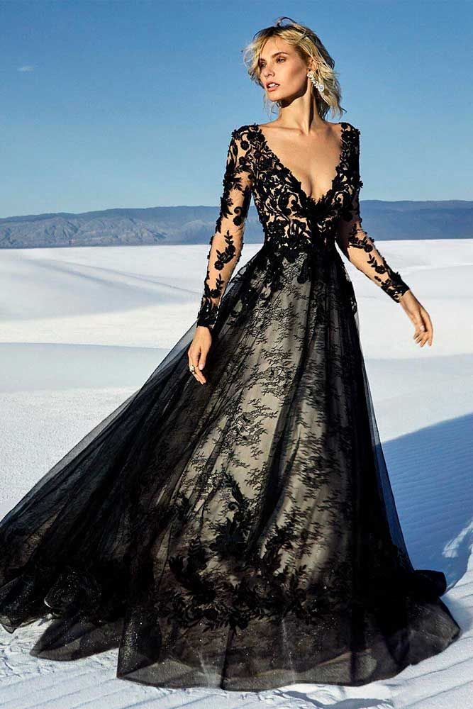 27 Fantastic Black Wedding Dresses To Fall In Love With Black