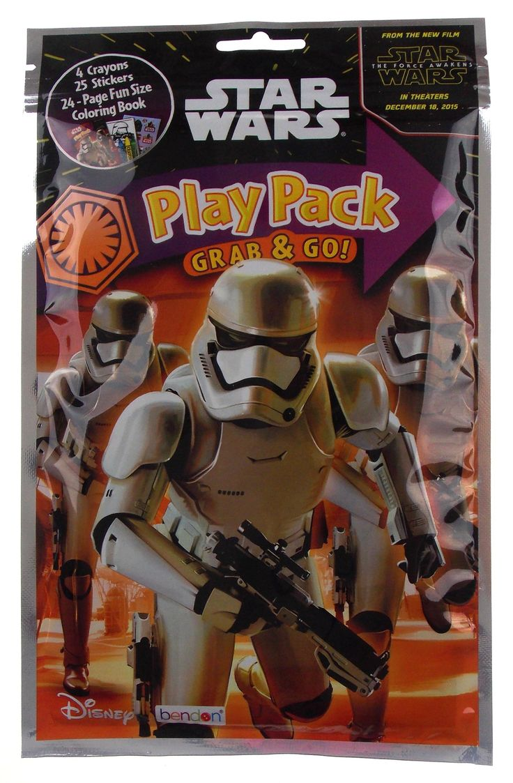 New Today: Star Wars Play Pa... Be the first to buy! http://funsationalfinds.com/products/star-wars-play-pack-stormtroopers-grab-go-set-12-coloring-book-crayons-stickers?utm_campaign=social_autopilot&utm_source=pin&utm_medium=pin