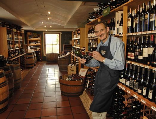 That's my friend Paul in one of my favourite places, his shop Wine Village at the Hermanus entrance to the Hemel en Aarde Valley. All the Walker Bay wines can be found on his shelves and more!
