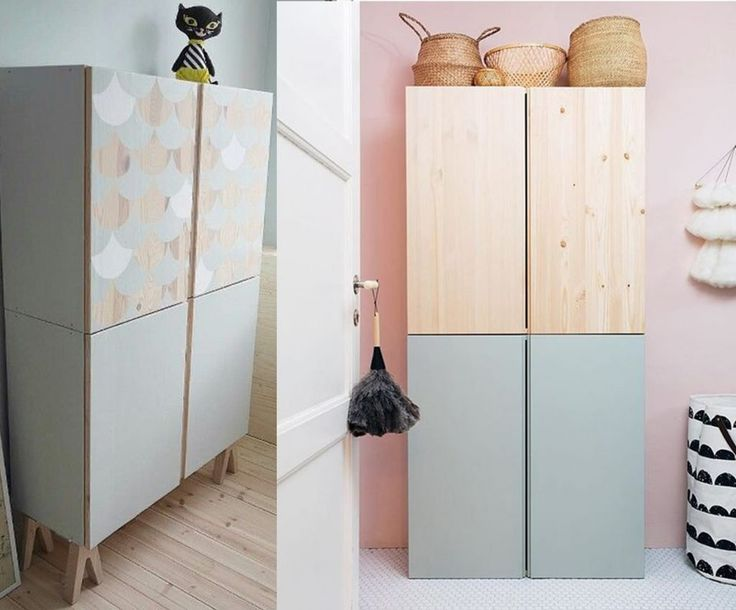 Allebei de IKEA IVAR kast
