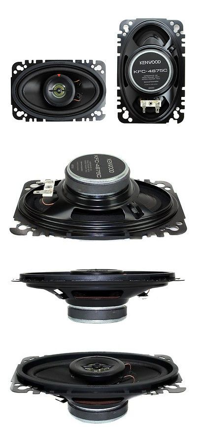 Car Speakers and Speaker Systems: 2) New Kenwood Kfc-4675C 4X6 60 Watt 2-Way Car Audio Speakers System Stereo -> BUY IT NOW ONLY: $41.99 on eBay!