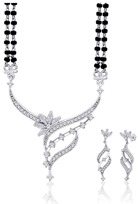 #White American #Diamond Studded #Mangalsutra @ $75.56