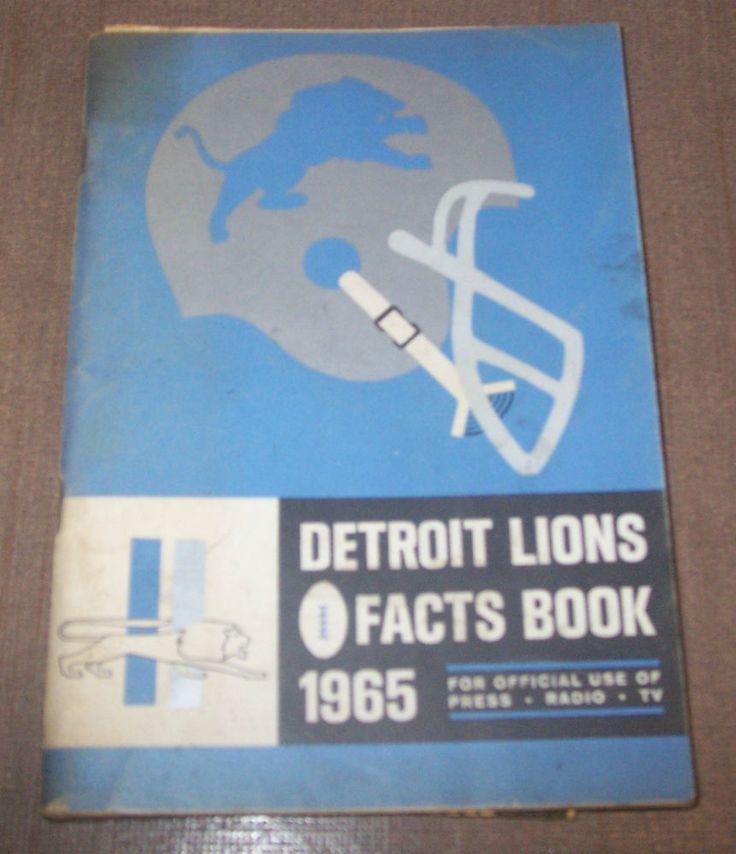 1965 Detroit Lions Press Book / Radio / TV / Media Guide #DetroitLions