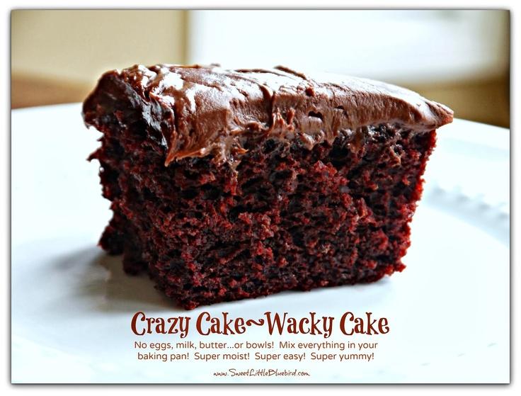 Most Popular ~ Crazy Cake  (also known as Wacky Cake & Depression Cake)
