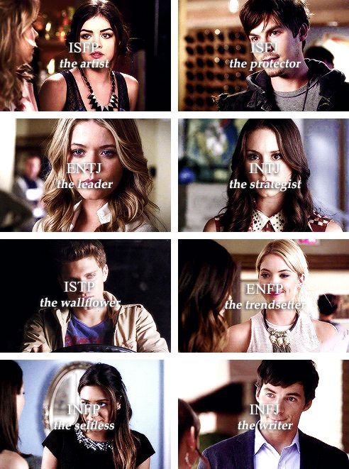 pretty little liars + personality types