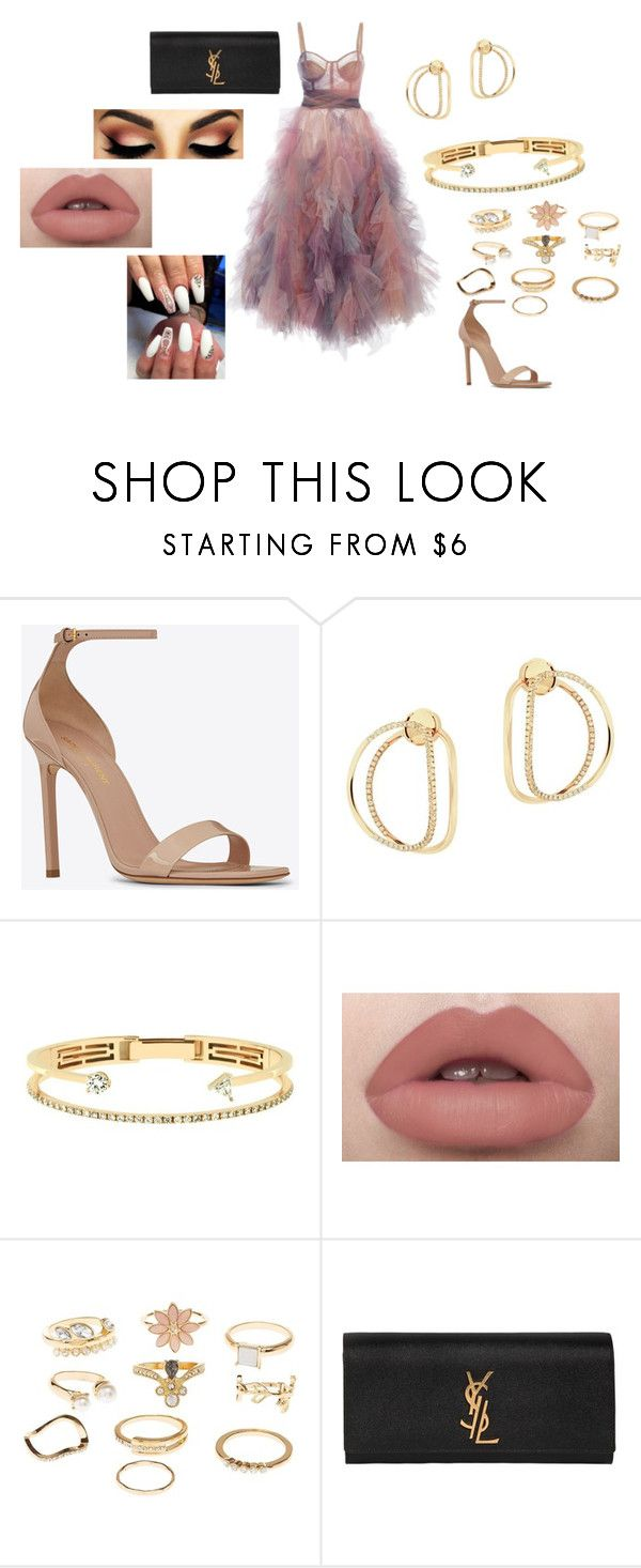 """""""...."""" by kkristinss on Polyvore featuring Yves Saint Laurent, Delfina Delettrez and Charlotte Russe"""