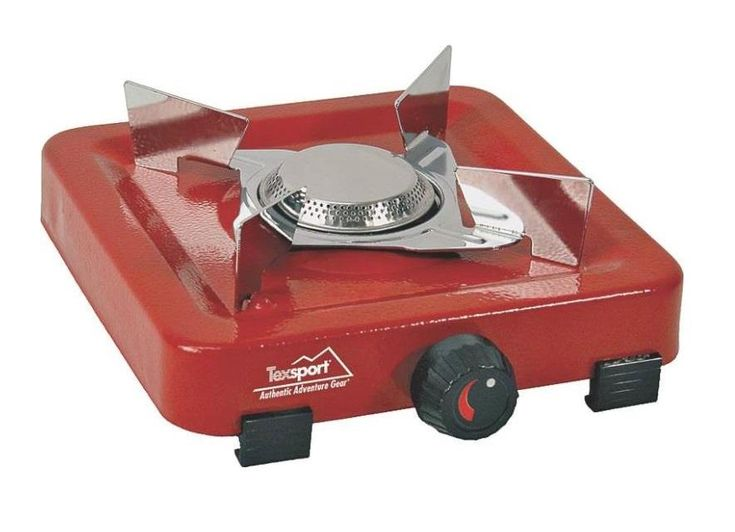 Texsport 14204 Single Burner Propane Stove, 5000 BTU, Heavy Gauge Steel