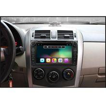 2 din Android 5.1 lecteur dvd de voiture pour Toyota Corolla 2007 2008 2009 2010 2011 Quad Core 8 pouce 1024*600 écran de voiture stéréo radio(China (Mainland))