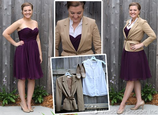 Here's what you need to restyle Sydney! We love what Jen has done with it! #bridesmaid #purple #business #fashion