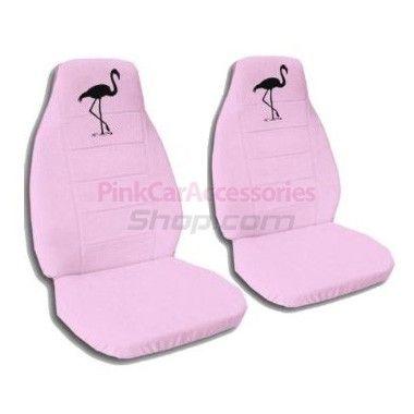 Cute Pink Flamingo Car Seat Covers