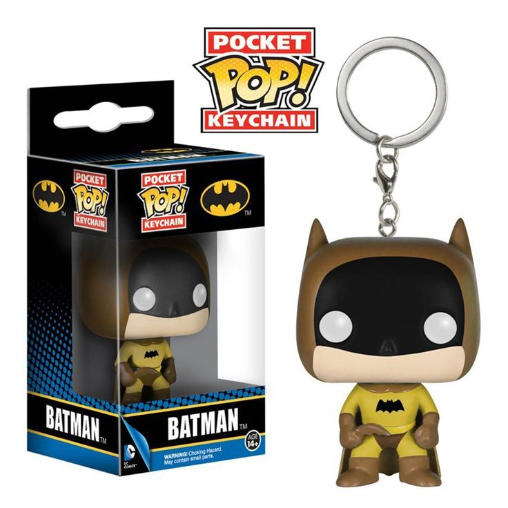 DC Comics Batman Pocket POP Batman Brown Vinyl Figure Keychain