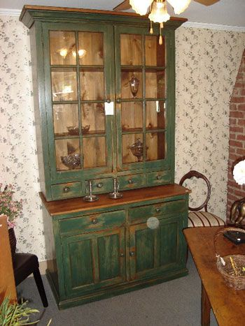 Country cabinet, distressed look. Great colours. Love it.
