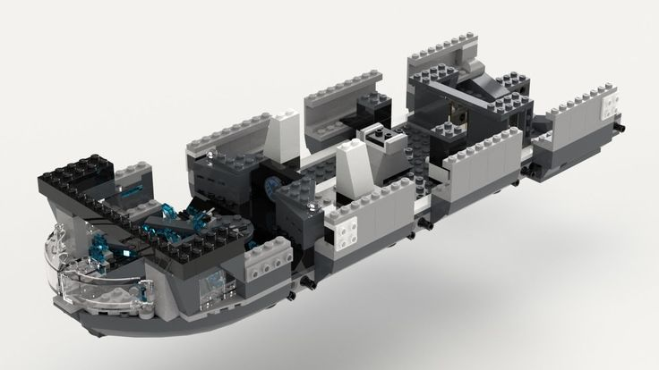 Lego Helicarrier (Kit 76042) Sub Assembly 02 Build Video